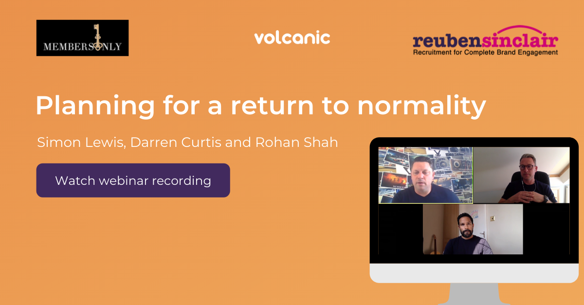 Planning for a return to normality after COVID-19 - click to watch recorded webinae