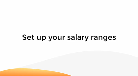 Set Up Your Salary Ranges
