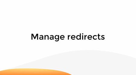 Manage Redirects